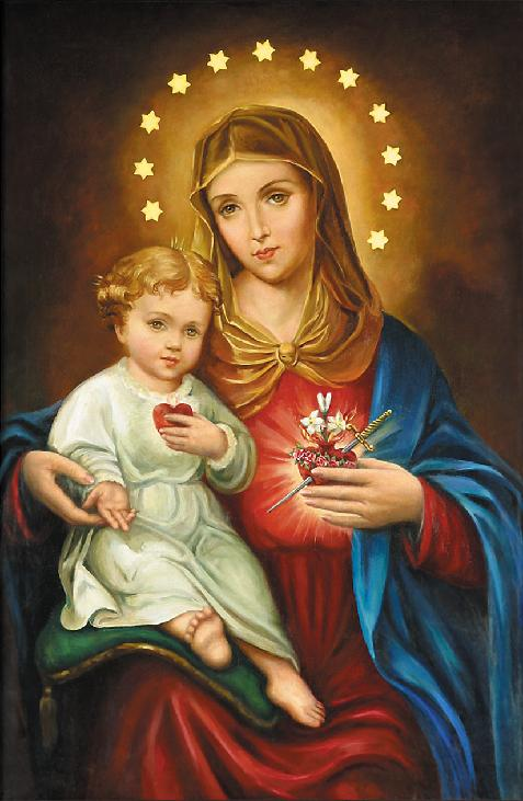 images of jesus christ with mary. and blessed is the fruit of thy womb, Jesus. Holy Mary, Mother of God,